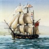 Artist representation of the ship Tam O'Shanter