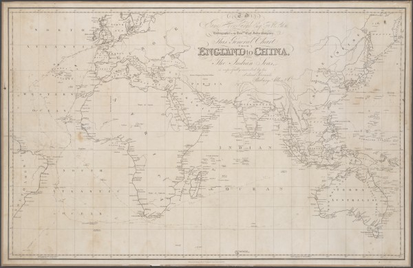 Map From England To Australia.Bound For South Australia 1836 Home Page