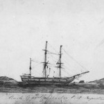 Sketch of the Cygnet at anchorage, Port Augusta, April 1833.
