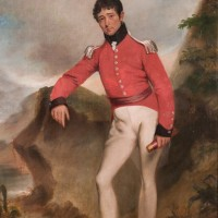 Image of an oil painting, self portrait of Colonel William Light c.1815.